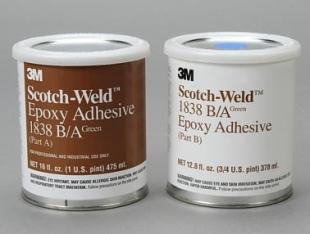 3M Scotch-Weld 1838 Epoxy Adhesive, 1 quart Kit, Green