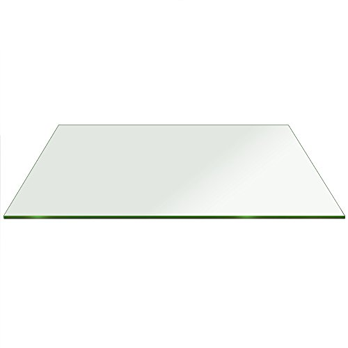 Fab Glass and Mirror Rectangle Glass 1/4'' Thick Flat Edge Tempered Eased Corners, 36'' L x 48'' W by Fab Glass and Mirror