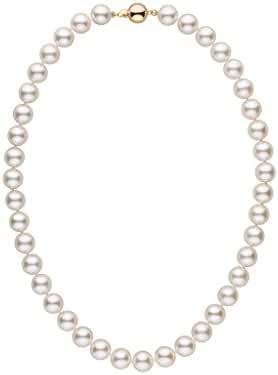 9.0-9.5 mm 16 Inch AA+ White Akoya Cultured Pearl Necklace