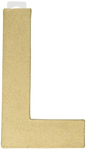 """Paper Mache Letter 8""""X5-1/2""""-Letter L"""