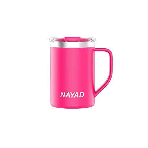 NAYAD Metro Stainless Steel Vacuum Insulated Thermos Coffee Mug, Travel Water Bottle with Lid for Iced Cold/Hot Drinks