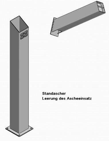 Quadratisch Erdspie/ß Standascher Au/ßenbereich Wetterfest Standascher Standascher inkl Hiska Standascher Edelstahl Standaschenbecher Rostfrei