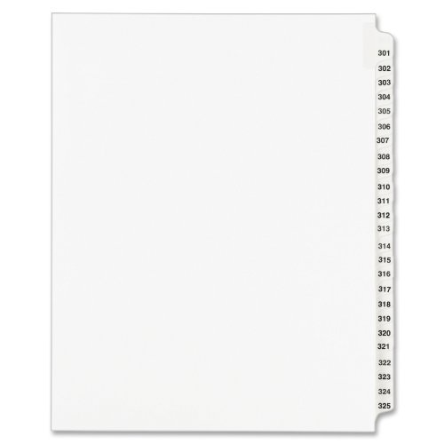 (Avery Legal Dividers, Standard Collated Sets, Letter Size, Side Tabs, 301-325 (01342) )
