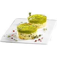 Écrasés pommes de terre et purée d'asperges vertes surgelés - 4 x 70 g