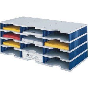Styro Sortierstation styrodoc trio 12 Fächer grau/blau