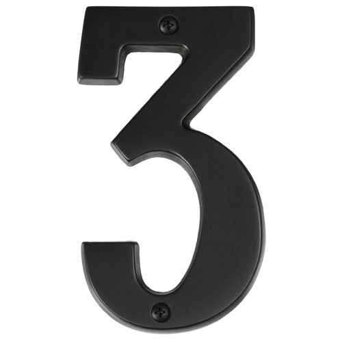 """Alno AP3-7-MB Transitional House Numbers, 7"""", Matte Black"""