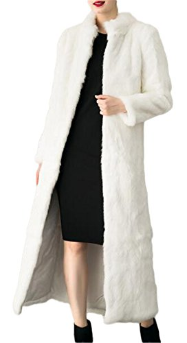 Women's Winter Fashion Long Maxi Outerwear Faux Fur Coat Full Length
