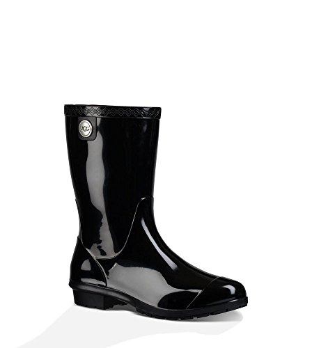 (UGG Women's Sienna Rain Boot, Black, 7 B)