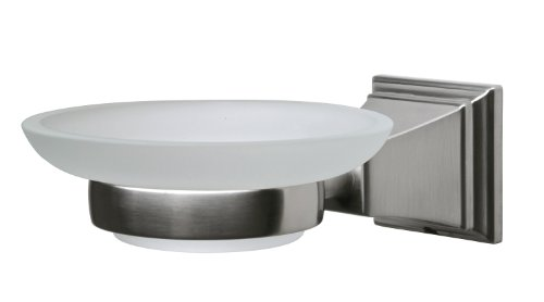 Pegasus 20714 0904 Exhibit Collection Wall-Mounted Soap Dish, Brushed Nickel