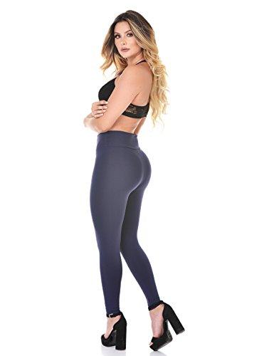 Curvify Elegant High Waisted Womens Dark Blue Leggings | Butt Shaping and Slimming Thick Navy Leggings