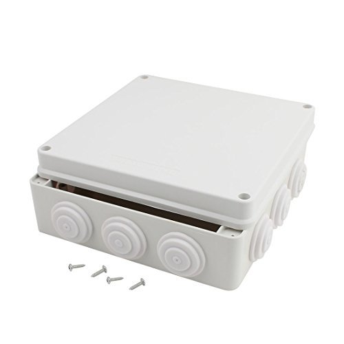 DealMux 200mmx200mmx80mm Waterproof Junction Box Universal Electric Project Enclosure