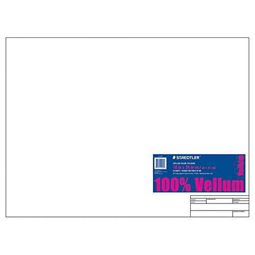 Staedtler(R) Vellum Paper with Title Block & Border, 18in. x 24in, White, Pad of 10 - Stars Vellum