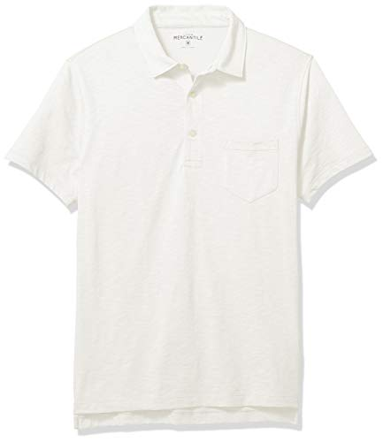 J.Crew Mercantile Men's Short-Sleeve Polo Shirt, Ivory, - Ivory Mens Shirt
