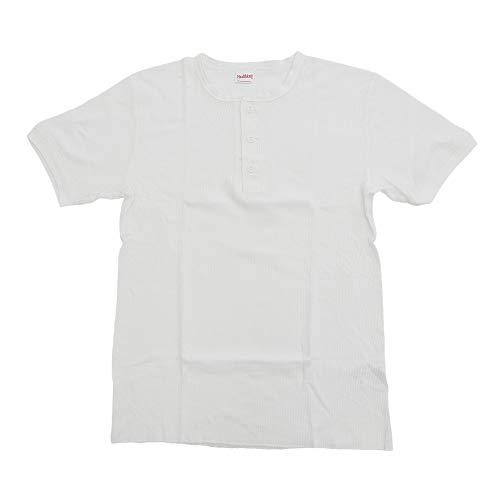 マットレスバックアップ発生するヘルスニット(ヘルスニット) ベーシックワッフルヘンリーネック ショートスリーブTシャツ #601S-OFF