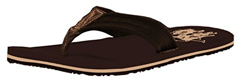 Noi Polo Assn. Mens Premium Sandali Corallini Sandali Casual Infradito Perizoma Marrone