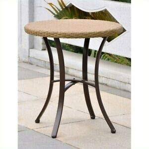 JumpingLight Barcelona Patio Bistro Table in Honey Pecan Durable and Ideal for Patio and Backyard