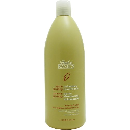 Back To Basics Apple Shampoo - Back To Basics Apple Ginseng Conditioner For Fine Hair, 33.8-Ounce