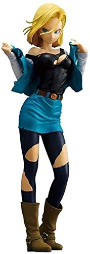 Modèle Cadeau Cadeau Créatif Dragon Ball Z Gals No 18 Figurine Lazuli Figurine PVC Collection Mini Toys for Ren 3913-light_Blue-Blue-Light Blue-Light Blue