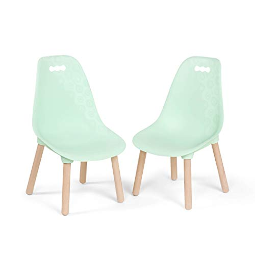 B. spaces by Battat - Kid-Century Modern: Trendy Toddler Chair Set of Two Kids Chairs - Kids Furniture Set for Toddlers and Kids - Mint (Lounge Folding Target Chair)