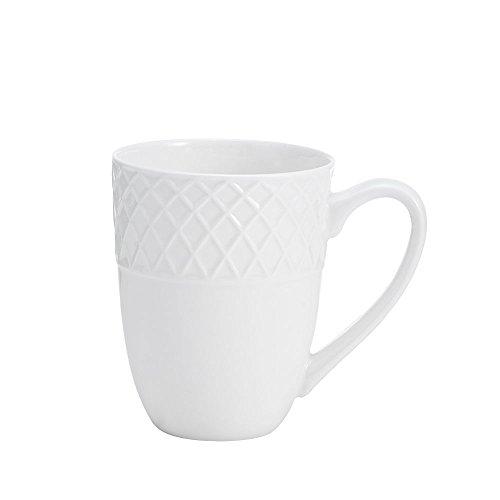 Mikasa Trellis White 14 oz. Mug -