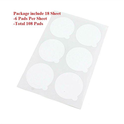 AKOAK 108 Pieces 5cm Disposable Eyelash Extension Glue Holder Adhesive Glue Pallet Sticker Pads