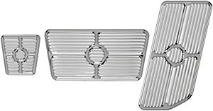 Billet Specialties 198622 Polished Universal Grooved Pedal Kit