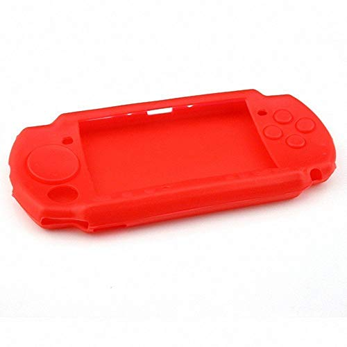 (Protective Soft Rubber Silicone Skin Case Cover for PSP 2000 3000 Red)