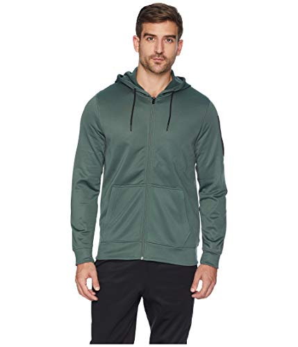 - Reebok Work Out Ready Poly Fleece Full Zip Hoodie, Chalk Green, X-Large