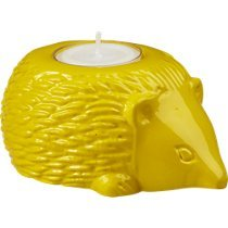 Yellow Hedgehog Candle Holder (Candles Candle Cb2 Holders)