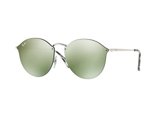 Ray-Ban-RB3574N-00330-Silver-Blaze-Round-Sunglasses-Lens-Category-3-Lens-Mirro