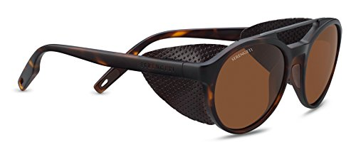 Serengeti Leandro Glacier Satin Dark Gun Polarized Drivers, Satin ()