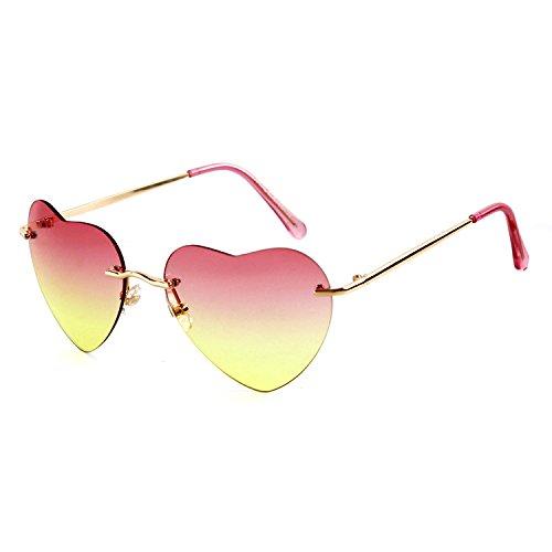 GCR Sonnenbrille Schatten Polarisierende Brille Herz Sonnenbrille Strand Hipster Fotos Gläser , C1