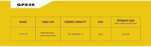 Wotefusi Plastic Rolling Mold Car Air Ram Intake Snorkel Kit Set for Toyota 90 Series Land Cruiser Landcruiser Prado
