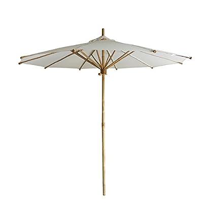 SUNNYARD 9 Ft Wood Market Patio Umbrella Outdoor Garden Yard Umbrella with Pulley Lift, 8 Ribs