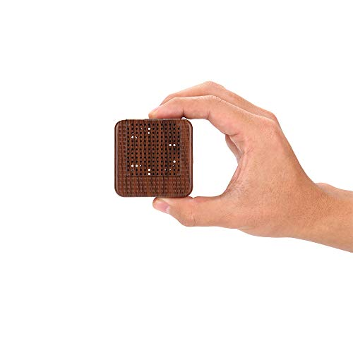 Price comparison product image Wood Grain Portable Diffuser for Essential Oils - Car or Travel,  Mini Size,  Quiet,  Waterless,  Re-chargeable Battery or USB (dark brown)