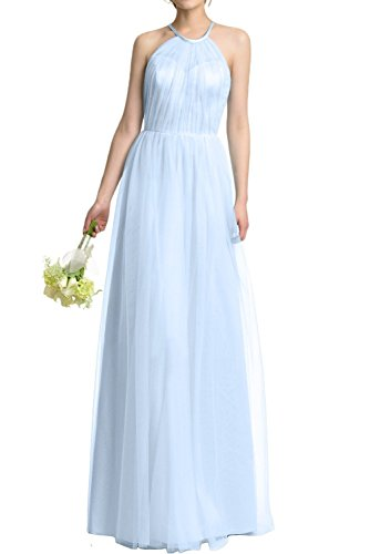 DressyMe Women's Party Dresses A-Line Halter Tulle Graduation Dress Sleeveless-6-Light Sky Blue ()