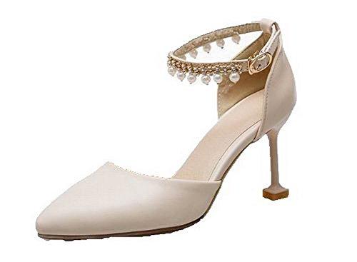 hak gesp sandalen dameshoge hoge teen met Agoolar beige Beige Gmxlb009040 qZSxYwq