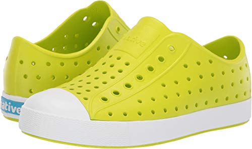Native Kids Shoes Unisex Jefferson (Little Kid/Big Kid) Glo Green/Shell White 5 M US Big Kid