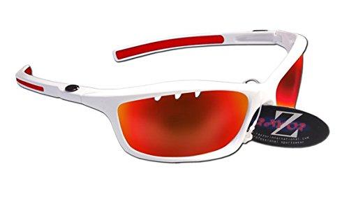 RayZor Lunettes Lunettes de soleil pour Sport Randonnée, avec un objectif Miroir Rouge aérés en iridium anti-reflets