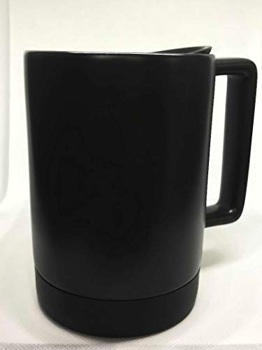 Starbucks Black Ceramic Desktop Mug Silicone Nonslip Bottom with press-in Lid , 14 Fl Oz