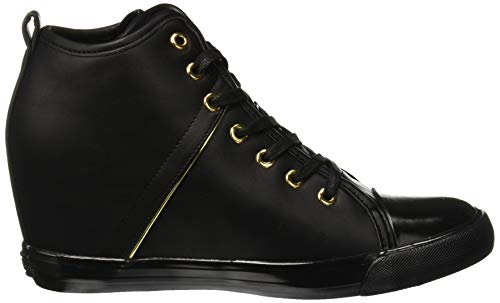 Donna Jilly Guess Alto A Collo Nero Black Sneaker black XUWUgH