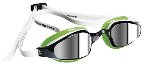 Aqua Sphere K180 - Gafas de bucear (con lentes reflectantes), unisex, color verde - multicolor, tamaño n/a