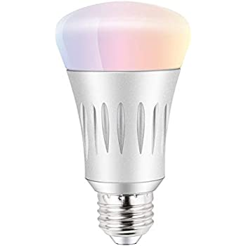 rgb led smart bulbs no hub required dimmable wifi remote control timing light smart life work. Black Bedroom Furniture Sets. Home Design Ideas