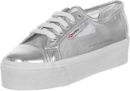 Superga S006JB0, Zapatillas con Plataforma Unisex Adulto Plateado (Silver)