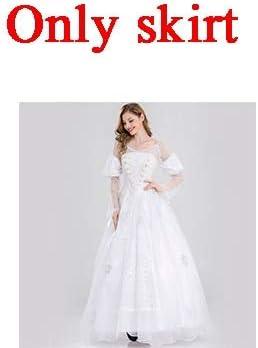 WSJDE Alicia en el país de Las Maravillas Disfraz de Reina Blanca ...