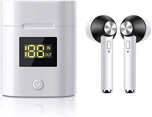 TYGYDLQ ヘッドホンを充電するワイヤレスヘッドセット、Bluetoothステレオヘッドセット、内蔵マイク、ヘッドフォン、ノイズ低減ヘッドフォン、LEDディスプレイ (Color : Black)