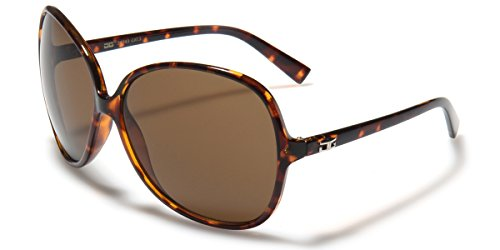 Oversized Frame Women's Round Butterfly Shape - Shell Tortoise Retro Sunglasses