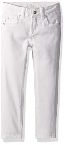7 For All Mankind Kids Girls' Big Skinny Denim Jean, Clean White, 10