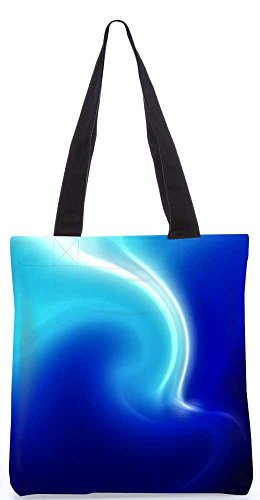 """Snoogg Weiß Und Blau Design Tragetasche 13,5 X 15 In """"Shopping-Dienstprogramm Tragetasche Aus Polyester Canvas"""