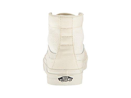 Bestelwagens Womens Basket Weave Sk8-hi Slanke Uitsparing Sneaker Marshmallow